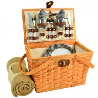 Buy cheap Picnic at Ascot, Frisco American Style Picnic Basket Equipped for 2 w/Blanket -Santa Cruz,716HB-BLKG from wholesalers