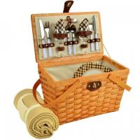 Buy cheap Picnic at Ascot Frisco Traditional American Style Picnic Basket for 2 w/ Blanket -London Plaid from wholesalers