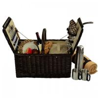 Buy cheap Picnic at Ascot Surrey Picnic Basket for 2 w/Blanket & Coffee, Brown Wicker/London Plaid from wholesalers