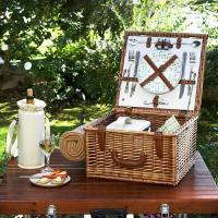 Buy cheap Picnic at Ascot Cheshire English-Style Willow Picnic Basket with Service for 2 and Blanket - Gazebo from wholesalers