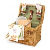 """Buy cheap Picnic Time Napa 11 3/4"""" Willow basket w/ wine & cheese service for 2 product"""