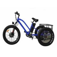 Buy cheap Aluminum Alloy 3 Wheel E Bike Trike Fat Tire Electric Tricycle with Passenger Seat for sale from wholesalers