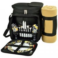 Buy cheap Picnic at Ascot Insulated Picnic Basket/Cooler Fully Equipped for 2 with Blanket - Black/Paris from wholesalers