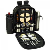 Buy cheap Picnic at Ascot Deluxe Equipped 2 Person Picnic & Coffee Backpack -Black/Paris from wholesalers