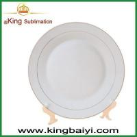 Buy cheap Sublimation blanks Gold rim Sublimation coated plate from wholesalers