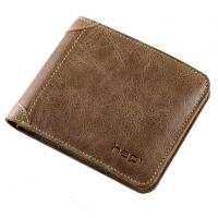 Buy cheap Mens Wallet Genuine Leather Casual Vintage Purse Name Card Credit Money Clip Holders from wholesalers