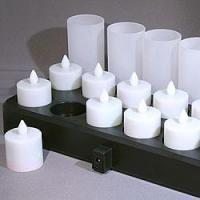 Buy cheap Quality Rechargeable Tea Candle Set Flickering Amber Flame from wholesalers