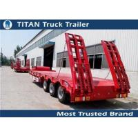Buy cheap Custom semi trailers vehicles , detachable low deck flatbed gooseneck trailers from wholesalers