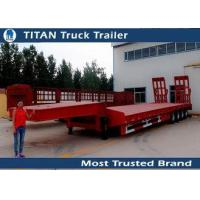 Buy cheap Mechanical suspension 4 Axle 120 Ton Lowbed Semi multi axle trailers 9 - 20m Length from wholesalers