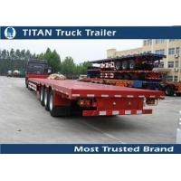 Buy cheap 53 Feet 70 tons Tri - Axles low flatbed drop deck semi trailers for container , hoses from wholesalers