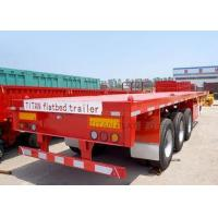 Buy cheap Tri Axle 40 ft Container Transport Platform Semi Trailer with twist lock from wholesalers