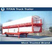 Buy cheap Enclosed Vehicle Transport Semi Trailer Car Hauler with Mechanical suspension from wholesalers