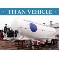 Buy cheap V / W Type Cement Trailer , Truck Powder Bulk Cement Tank Semi Trailer from wholesalers