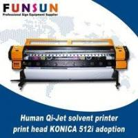 Buy cheap Human Qi-Jet solvent printer with print head KONICA 512i adoption from wholesalers