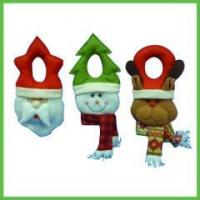 Buy cheap Christmas Items Stuffed Felt Christmas Door Hanger (santa claus/ snowman/ reindeer) from wholesalers