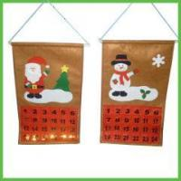 Christmas Items Christmas Countdown Hanging Calendars with pockets