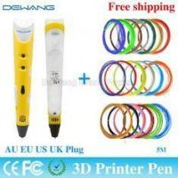 Buy cheap Yellow 3D Drawing Pen , 3D Painting Pen for 3d Drawing + Arts + Crafts Printing from wholesalers