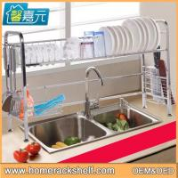 Buy cheap Stainless Steel Sink Dish Drainer Storage Rack Removable Drain Rack from wholesalers