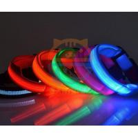 Buy cheap Led Pet Products 2.5cm LED Dog Nylon Collar Safety necklace Flashing Lighting Up Collar from wholesalers
