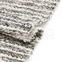 Buy cheap HR83744Acrylic-polyester-cotton blended multi stripe sweatshirt knit fabric product