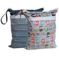 Buy cheap Sleeping Lamb Baby Wet and Dry Cloth Diaper Bag 2 pcs Set (Owls and Stripe) from wholesalers