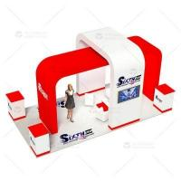 Buy cheap 10x20 Custom Fabric Island Exhibition Stands from wholesalers