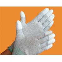 Buy cheap Carbon fiber PU coated palm gloves from wholesalers