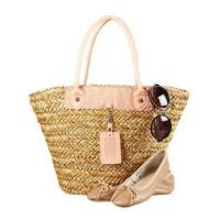 Buy cheap Hollow natural grass straw tote lady bags from wholesalers