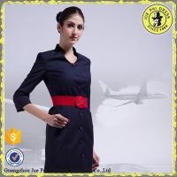 Buy cheap lady elegant custom logo airline flight attendant uniform su from wholesalers