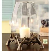 Buy cheap Candle Holders - Rustic Antler Hurricanes - Set of Three from wholesalers