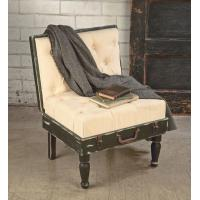 Buy cheap Display Side Chair - Black & Cream Suitcase Chair from wholesalers