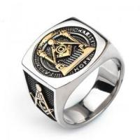 Buy cheap Free-mason Wide Fashion Titanium Rings For Men from wholesalers