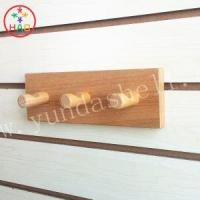 Buy cheap HAO Wooden Wall Coat Hook Rack with 3 Pegs,Household Coat Hangers,Crochet Hooks for Walls product