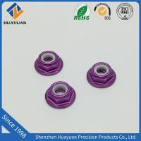 Buy cheap Aluminum Flange Nylock Nuts M5 Aluminum Low Profile Nylon Lock Nut from wholesalers