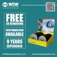Buy cheap Custom Counter Cardboard Display Boxes for CD/DVD from wholesalers