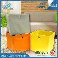 Buy cheap Colored Cardboard Cube Storage Basket Bins for Organizing product