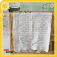 Buy cheap TEXTILES Cotton Knitted Blanket with Wide Ribbed Border from wholesalers