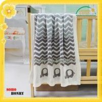 Buy cheap TEXTILES 100% cotton knitted baby blanket from wholesalers