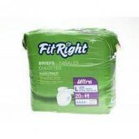 Buy cheap Incontinence Supplies FitRight Ultra Adult Disposable Briefs Small 20-33 - 80 Count from wholesalers