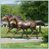 Buy cheap Outdoor Life Size Bronze Running Horse Sculpture For Sale from wholesalers