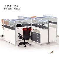 Buy cheap New Modular Easy Assembling Design 4 People Office Desk Partition with Glass from wholesalers