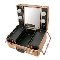 Buy cheap Makeup Station Portable vanity rose-gold makeup station case with lights from wholesalers
