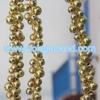 Buy cheap Beaded Tree Branch Garland - I Gold Round Beaded Tree Branch For Xmas Decor from wholesalers