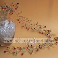 Buy cheap Colorful Acrylic Faceted Beads Garland Tree Branches from wholesalers