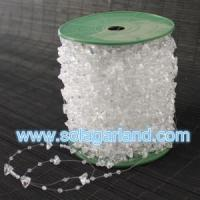 Buy cheap 60M/Roll 10+3MM Plastic Crystal Triangle Bead Garland Strand from wholesalers
