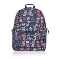 Buy cheap Girl's Cute Owl Print Canvas Dome Backpack from wholesalers