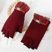 Buy cheap China Factory Small MOQ Lace Fashion Women Cotton Fingerless Gloves from wholesalers