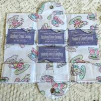 Tiny Tea Cups Tea Wallet Fabric Tea Bag and Sweetener Envelope for the Purse