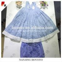 Buy cheap Designed blue eyelet lace fabric Baby Girl Clothing Sets suit from wholesalers