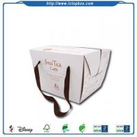 Buy cheap Fancy take away cake packing paper boxes from wholesalers